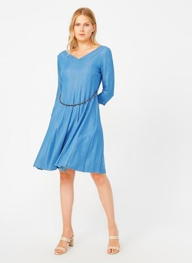 Selen Elbise Mavi